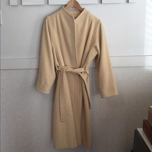 Vintage cream colored cashmere coat